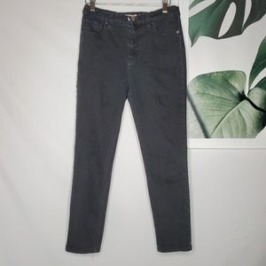 Free People Faded Black Skinny Ankle Jeans